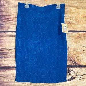 NWT Cassie Rose Blue Stretch Skirt